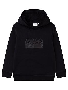 boss-boys-logo-hoodie-black