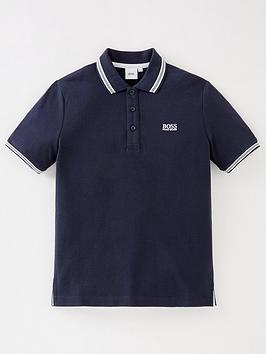 boss-boys-short-sleeve-logo-polo-navy