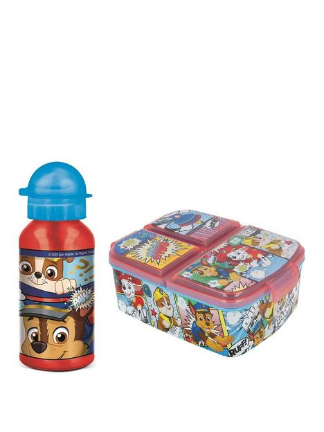 paw-patrol-paw-patrol-aluminium-water-bottle-and-multi-compartment-sandwich-box