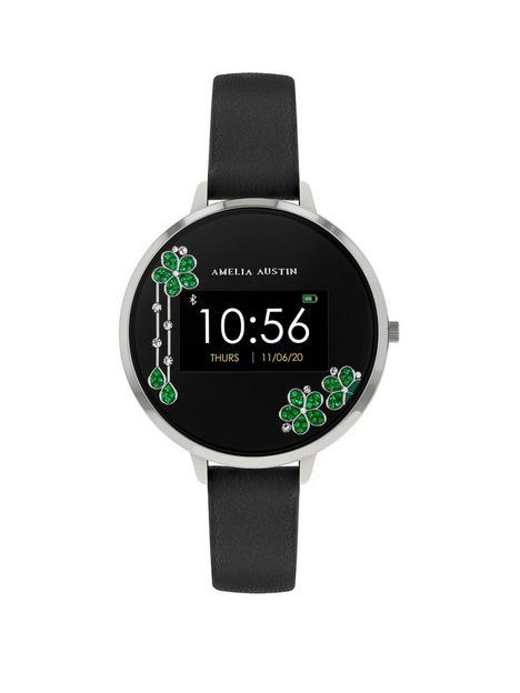 amelia-austin-amelia-austin-crystal-cascade-ladies-smart-active-fitness-watch