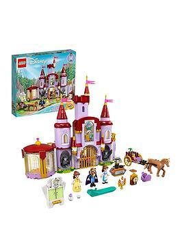 lego disney princess belle and the beast's castle set 43196