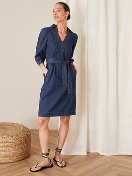 monsoon-collared-denim-dress