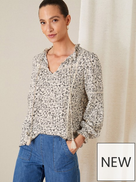 monsoon-printed-lace-detail-tie-neck-top