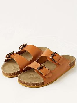 Monsoon Monsoon Lola Leather Double Strap Footbed Sandal