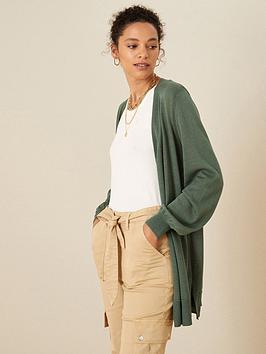 monsoon-longline-linen-blend-cardigan