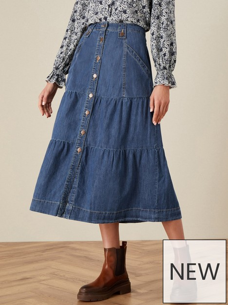 monsoon-button-through-denim-midi-skirt