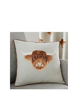 Fusion Highland Cow Filled Cushion