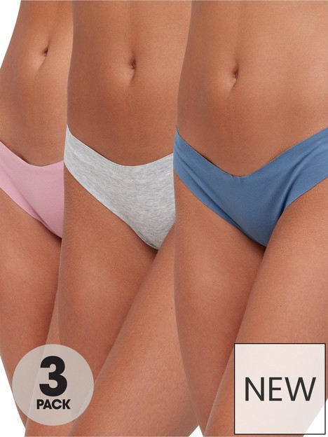 hunkemoller-3-pack-invisible-cotton-string-briefs-multi