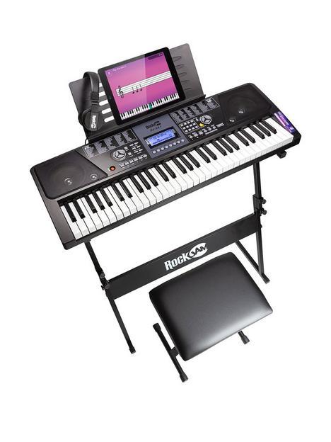 rockjam-rockjam-61-key-keyboard-piano-superkit-with-keyboard-stand-piano-bench-headphones-keynotes-stickers-simply-piano-app