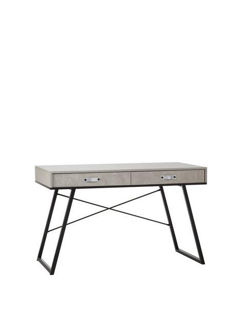 premier-housewares-bradbury-2-drawer-desk-grey
