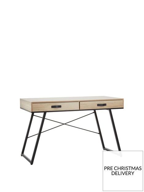 premier-housewares-bradbury-2-drawer-desk-natural