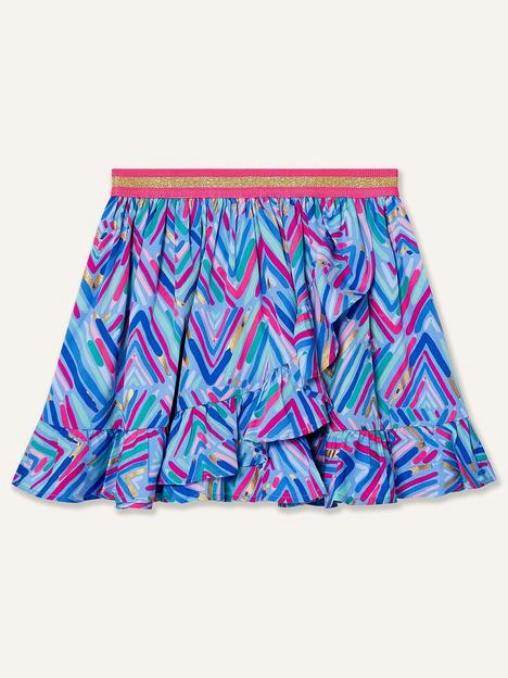 monsoon-girls-sew-chevron-foil-print-skirt-blue