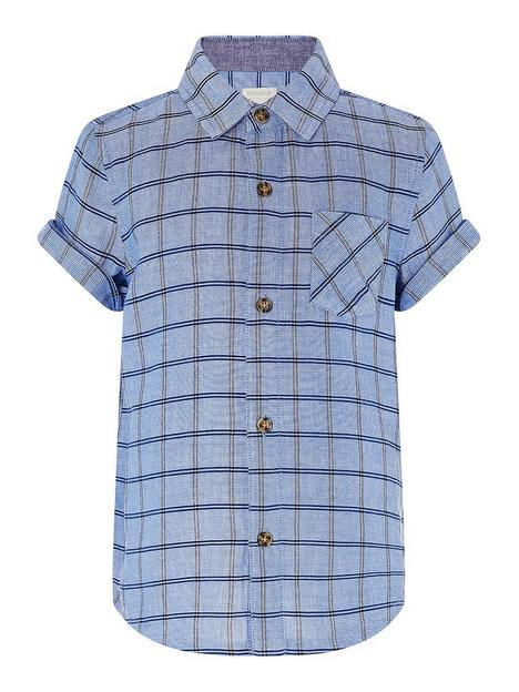 monsoon-boys-check-short-sleeve-shirt-blue