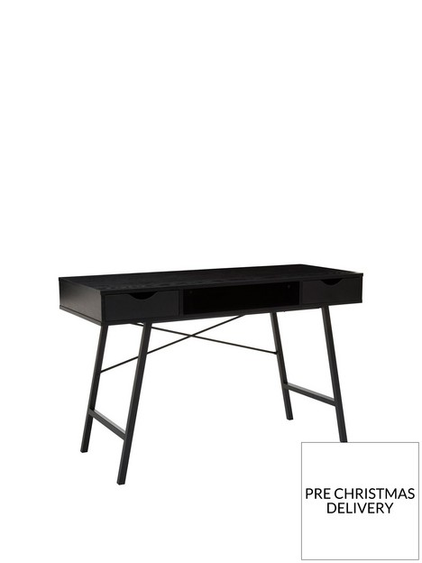 premier-housewares-bradbury-2-drawer-desk-black