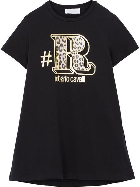 roberto-cavalli-r-leopard-logo-longline-t-shirt-blackgold