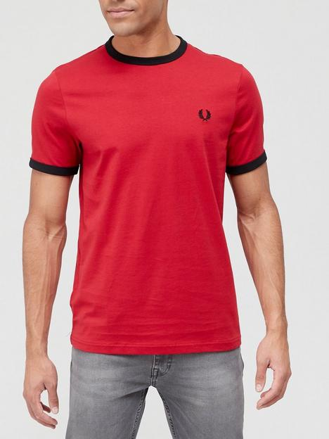 fred-perry-ringer-t-shirt-red