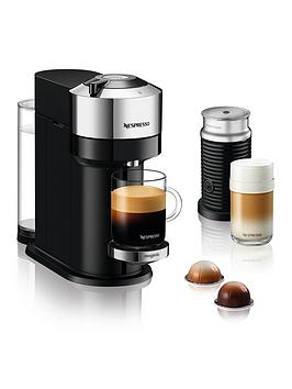 Nespresso Vertuo Next 11713 Coffee Machine With Milk Frother By Magimix - Chrome