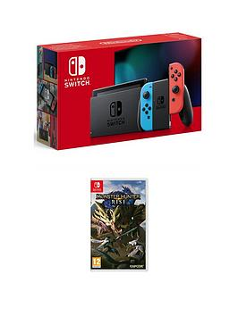 Nintendo Switch Console With Monster Hunter Rise