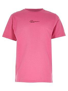 river-island-boys-logo-tshit-pink