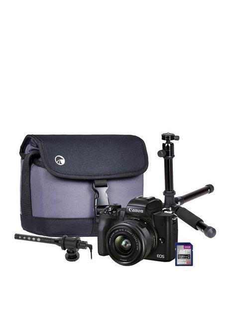 canon-canon-eos-m50-mkii-vlogger-kit-inc-15-45mm-lens-on-camera-shotgun-microphone-tripod-32gb-sd-card-case-black