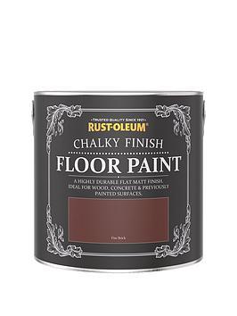 Rust-Oleum Rust-Oleum Chalky Floor Paint Fire Brick 2.5L