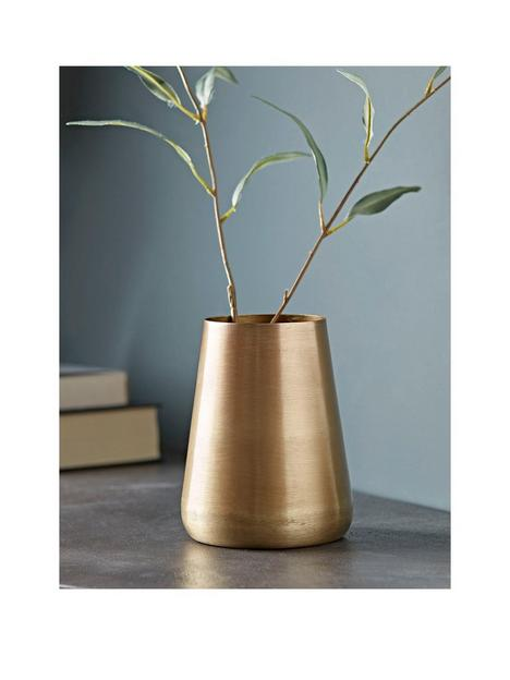 cox-cox-brushed-gold-tall-vase