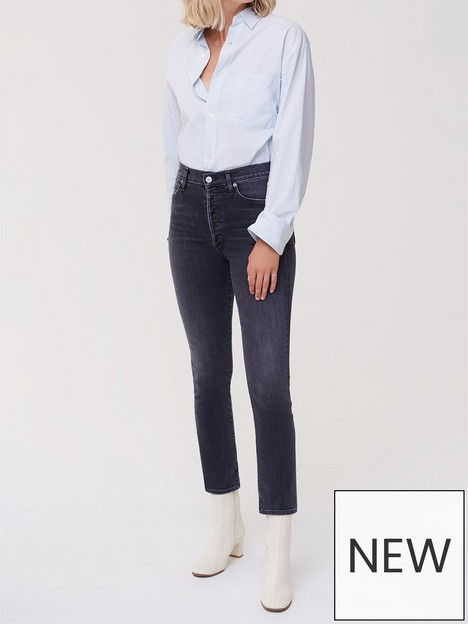 citizens-of-humanity-olivia-high-rise-slim-jeansnbsp--blue-grey