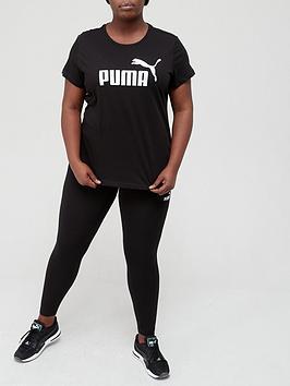 puma-essential-logo-t-shirt-plus-black
