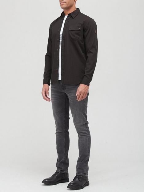 belstaff-pitch-oxford-shirt-black