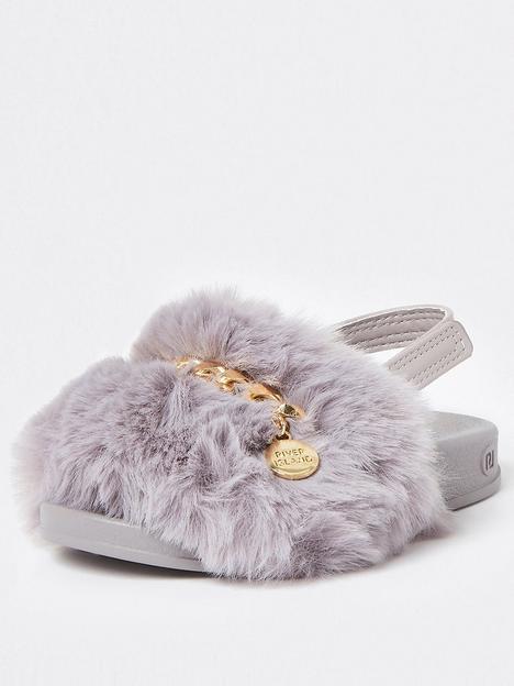 river-island-mini-girls-faux-fur-slider--nbspgrey