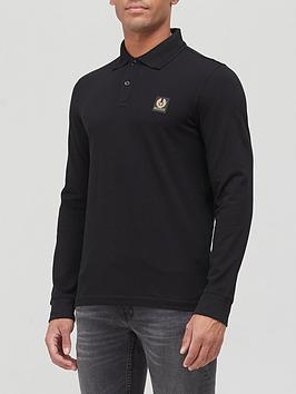 belstaff-chest-logo-long-sleeve-polo-shirt-black
