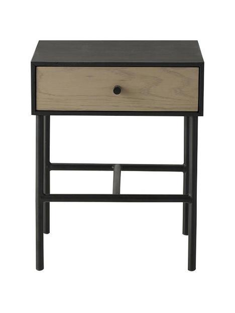hudson-living-carbury-1-drawer-side-table-oakblack
