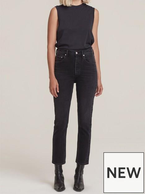 agolde-riley-crop-highnbsprise-authentic-jeansnbsp--black