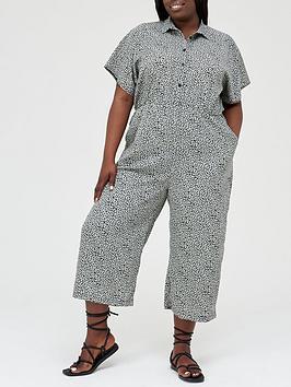 ax-paris-curve-button-through-jumpsuit--nbspduckegg-print