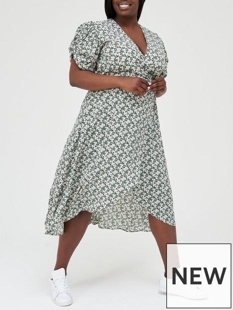 ax-paris-curve-puff-sleevenbspwrap-midi-dress-floral-print