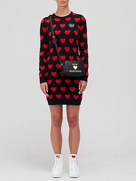 love-moschino-all-over-heart-print-knitted-jumper-dress-black