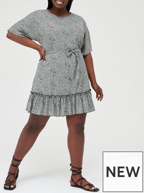 ax-paris-curve-puff-sleeve-mini-dress-duckegg-print