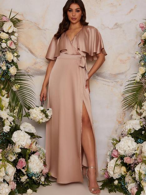 chi-chi-london-angel-sleeve-wrap-maxi-bridesmaid-dress-champagne