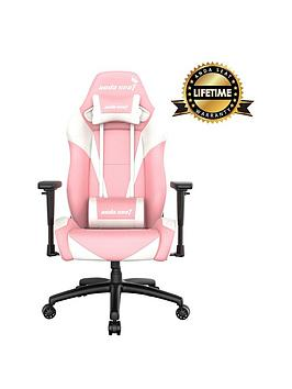 Anda Seat Pretty In Pink Gaming Chair White/Pink