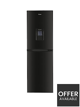 candy-chcs-517fbwdk-55cm-widenbsp5050-fridge-freezer-with-water-dispenser-black