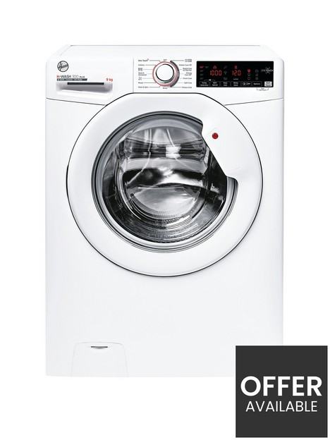 hoover-h-wash-300-h3w-69tme-9kg-loadnbspwashing-machine-with-1600-rpm-spinnbspwith-wifi-connectivity-white