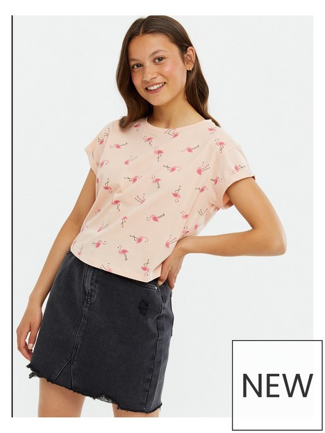 new-look-915-all-over-printnbspflamingo-t-shirt-pink-print