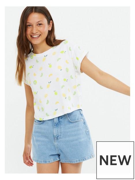 new-look-915-all-overnbsplemon-printnbspconversational-t-shirt-white