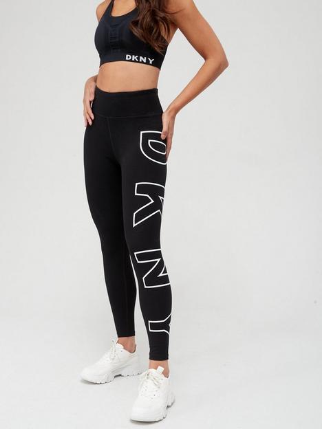 dkny-sport-high-waistednbsp78-exploded-logo-leggings-black