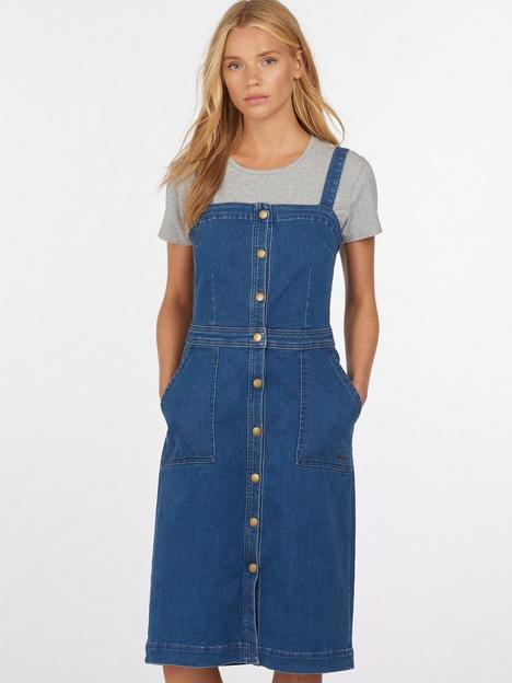 barbour-denim-pinny-dress-blue