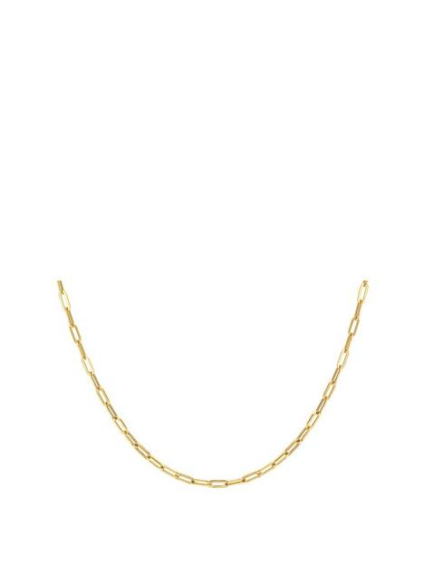 love-gold-9ct-gold-paper-chain-necklace