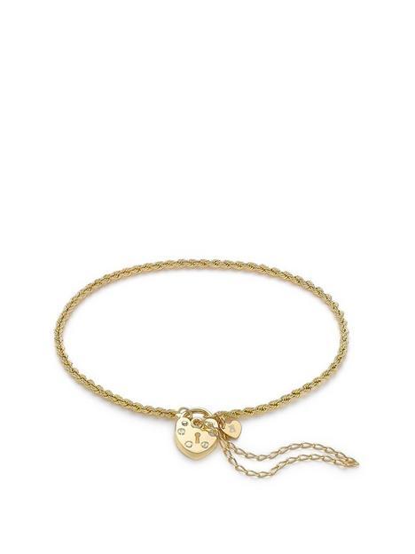 love-gold-9ct-gold-padlock-chain-bracelet