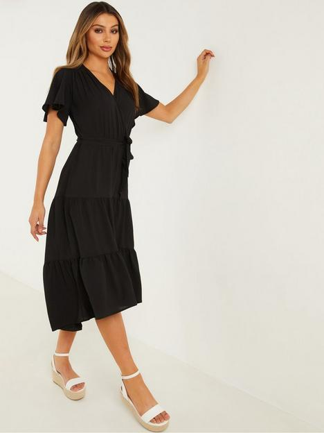 quiz-v-neck-wrap-tiered-dip-hem-midi-dress-black