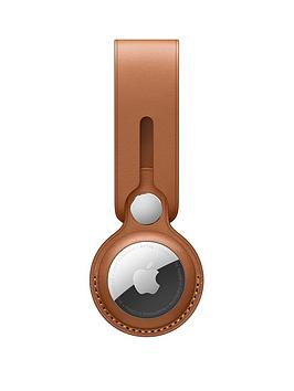 Apple Airtag Leather Loop - Saddle Brown