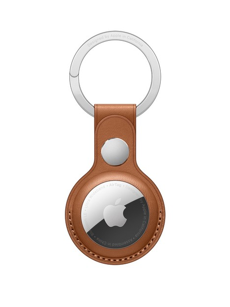 apple-airtag-leather-key-ring-saddle-brown
